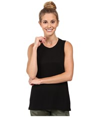 Alo Yoga High Low Muscle Tank Top Black Women's Sleeveless