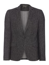 Label Lab Men's Wilber Salt And Pepper Casual Blazer Dark Grey