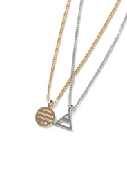 Topman Gold And Silver Look Multirow Symbol Necklace