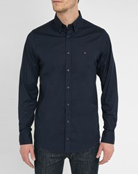 Tommy Hilfiger Blue Stretch Poplin Shirt