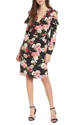 Love Fire 'S Floral Print Wrap Dress Multi