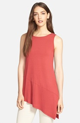 Eileen Fisher Lightweight Jersey Tunic Red Saffron
