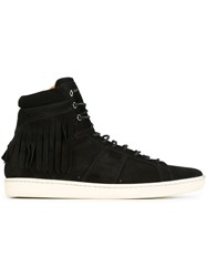Saint Laurent 'Court Classic' Hi Top Sneakers Black