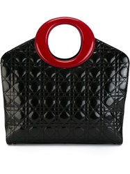 Christian Dior Vintage Quilted Tote Black