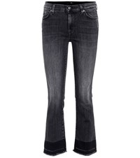 7 For All Mankind Cropped Bootcut Jeans Grey