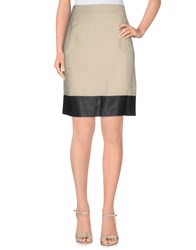 Hotel Particulier Skirts Knee Length Skirts Women Beige
