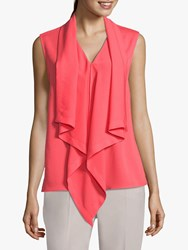 Betty Barclay Sleeveless Blouse Coral Red