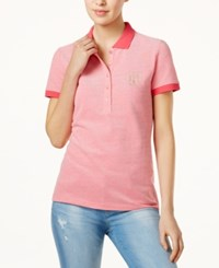 Tommy Hilfiger Cotton Polo Top Only At Macy's Azalea Ivory
