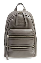 Marc By Marc Jacobs 'Domo Biker' Leather Backpack Grey Faded Aluminum