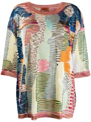 Missoni Patterned Blouse Blue