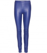 Emilio Pucci Leather Leggings Blue