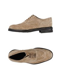 Gold Brothers Lace Up Shoes Khaki