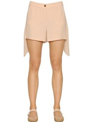Emporio Armani Viscose Cady And Georgette Paneled Shorts