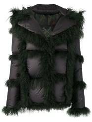 Mr And Mrs Italy Padded Shearling Jacket Black