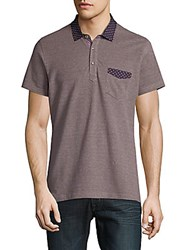 Saks Fifth Avenue Casual Cotton Polo Red