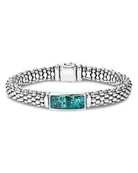 Lagos Sterling Silver Maya Escape Chrysocolla Doublet Rope Bracelet Teal Silver