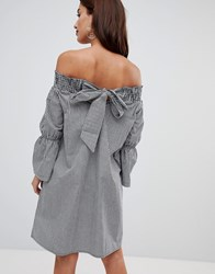 Na Kd Off Shoulder Knot Back Dress Black