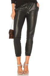 N Philanthropy Scarlett Leather Jogger Black