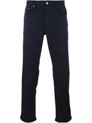 Michael Kors Straight Leg Trousers Blue