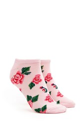 Forever 21 Rose Patterned Ankle Socks