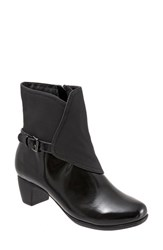 Trotters Women's 'Stormy' Waterproof Bootie Black Faux Leather Rubber