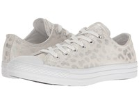 Converse Chuck Taylor All Star Brea Animal Glam Textile Ox White Silver White Women's Classic Shoes