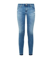 Ag Jeans Super Skinny Ankle Grazer Female Blue