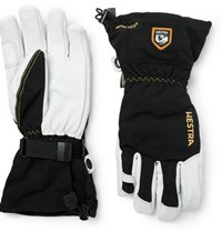 Hestra Army Leather And Gore Tex Ski Gloves Black