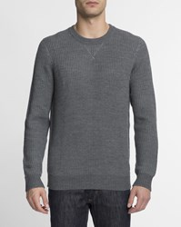 Carhartt Dark Grey Textured Knit Kay Merino Wool Jumper