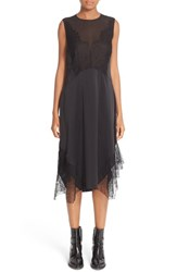Belstaff Women's Jasmine Lace Inset Silk Midi Dress