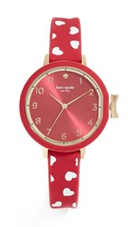 Kate Spade New York Hearts Park Row Watch 33Mm Red White
