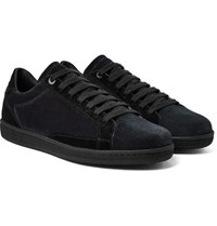 Brioni Two Tone Suede Sneakers Blue