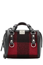 Dsquared2 Leather And Wool Mini Tote Multicolor