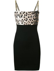 Roberto Cavalli Leopard Print Mini Dress Black
