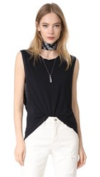 Free People The It Muscle Tee Black