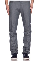 Naked And Famous Weird Guy Grey Selvedge