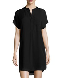 Vince Short Sleeve Shift Dress Black