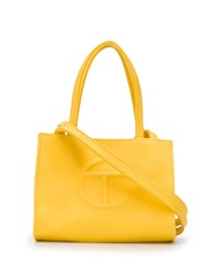 Telfar Embossed Logo Tote Bag Yellow