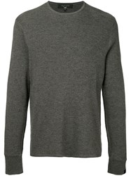 Rag And Bone Gregory Crew Jumper Grey