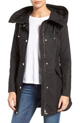 Guess Women's Lace Up Hooded Utility Coat