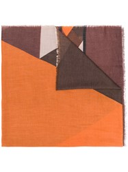 Liu Jo Graphic Patterned Scarf Brown