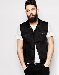 Cheap Monday Denim Gilet Staple Sleeveless Black Rinseblack