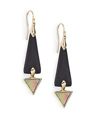 Alexis Bittar Lucite And Mother Of Pearl Spear Drop Earrings Black