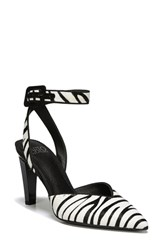 Franco Sarto By Santi 2 Genuine Calf Hair Pump Black Zebra Hair Calf