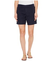 Michael Stars Linen Cotton Blend Walking Shorts Nocturnal Women's Shorts Black
