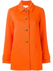 Michael Michael Kors Metallic Button Coat Yellow Orange