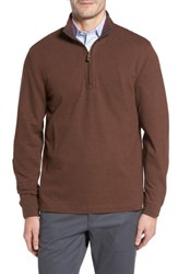 Thaddeus Men's Clifton Quarter Zip Pullover Chestnut