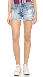 Blank Distressed Cutoff Shorts