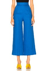 Mara Hoffman High Waist Crop Pant In Blue