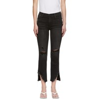 Frame Black 'Le High Straight' Jeans